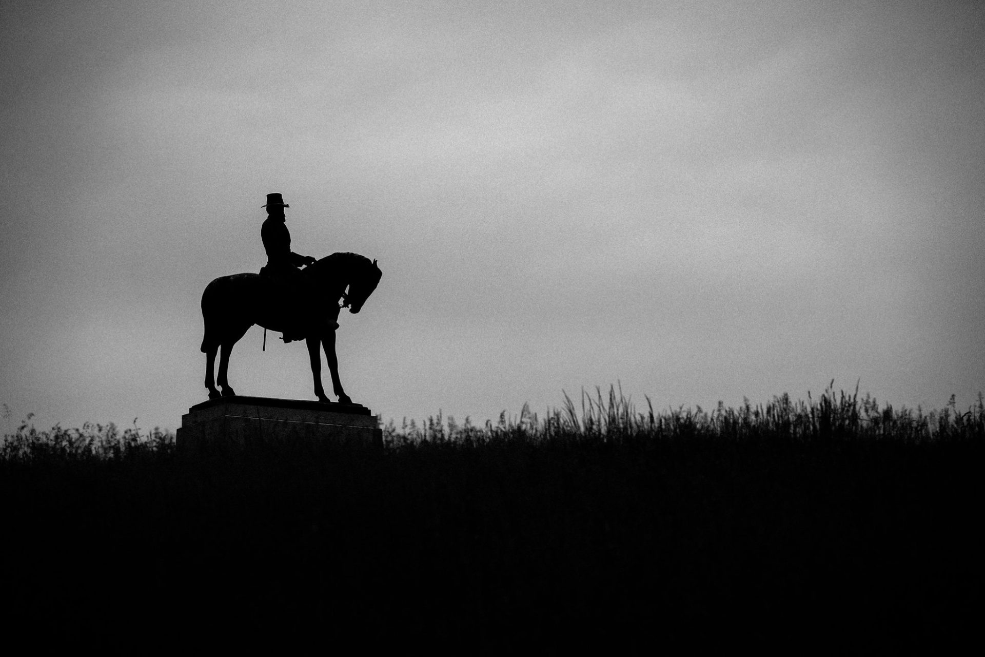 Statue of Union General Oliver O. Oliver on East Cemetery Hill in Gettysburg.