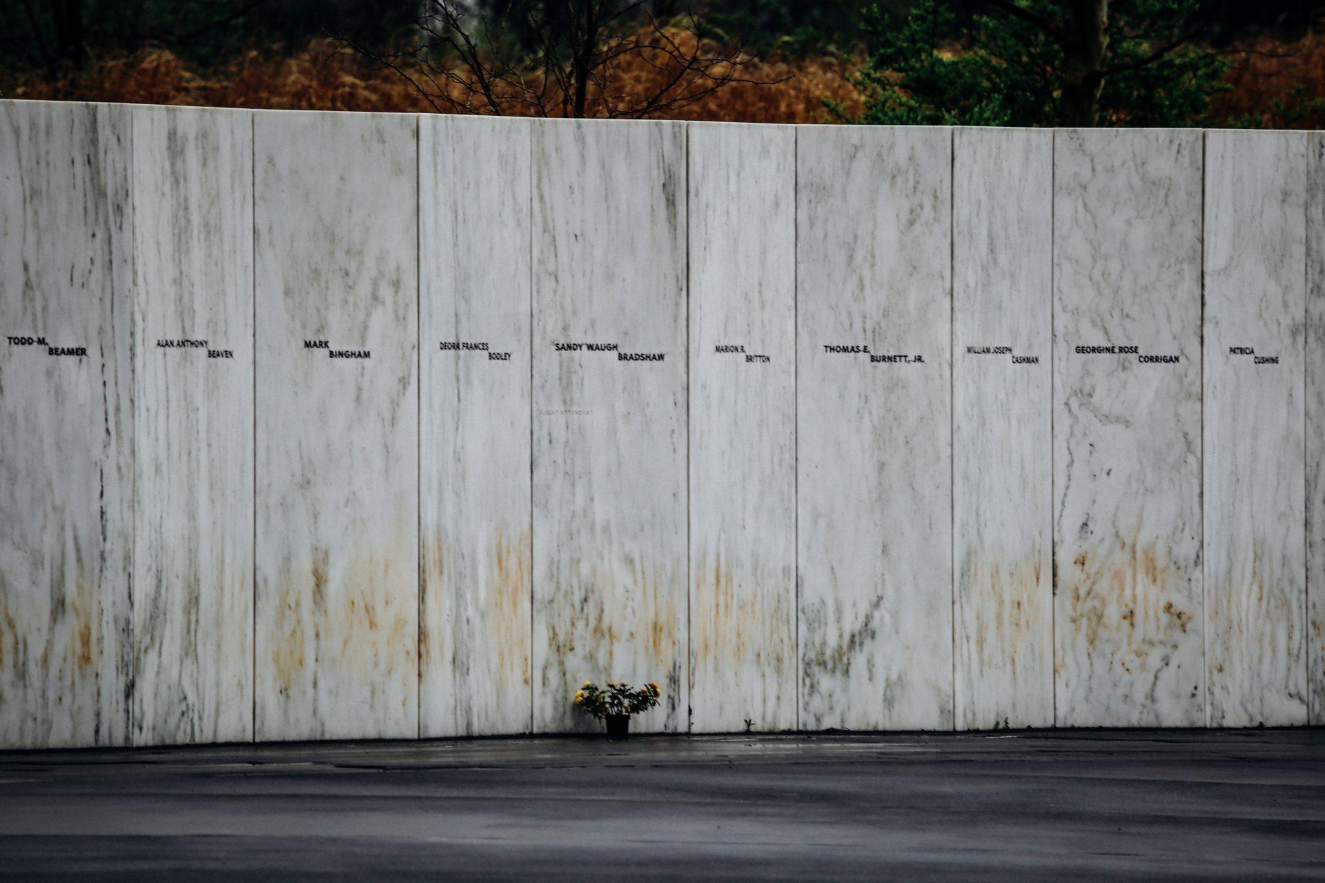 The Wall of Names at the Flight 93 National Memorial